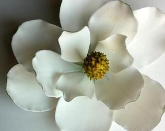 """GUM PASTE FLOWER Magnolia approx 5"""" in diameter"""