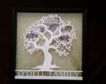 Custom Family Tree Shadow Box
