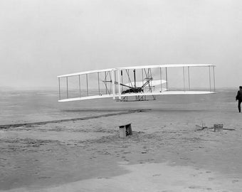 The Wright Brother's First Flight (1903) Kitty Hawk, North Carolina Photo Print
