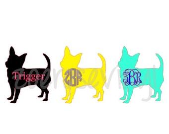 Chihuahua Monogram/Name Decal