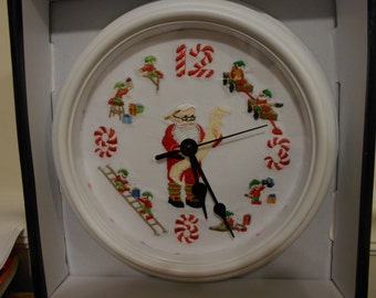 Embroidered Christmas Clock