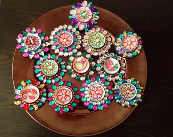 Popular items for diya on etsy for Aarti dish decoration