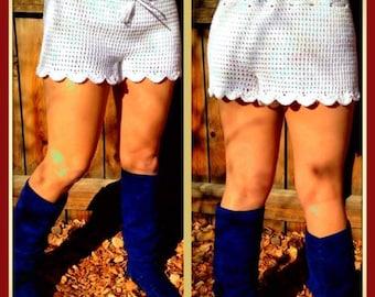 Crochet Scalloped Summer Shorts