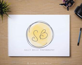 Photography Logo - premade logo - logo and watermark -  watercolor logo - monogram logo