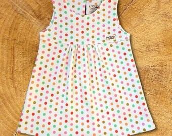 Organic Baby Dress:Spring Polka