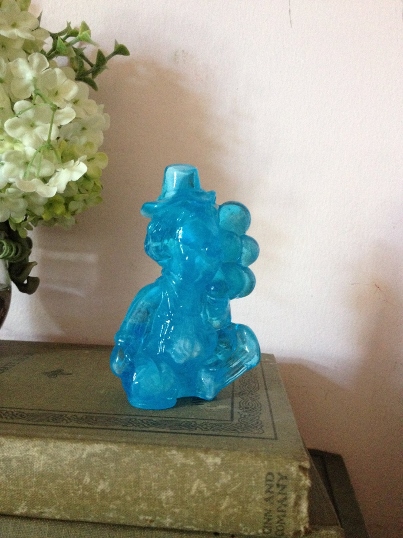 clown blue mosser blue slag glass gabby odd by