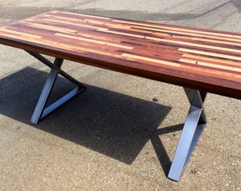 unique outdoor tables. Custom Reclaimed Wood Rustic Modern Industrial Unique Patterned Indoor  Outdoor Dining Table dining Etsy