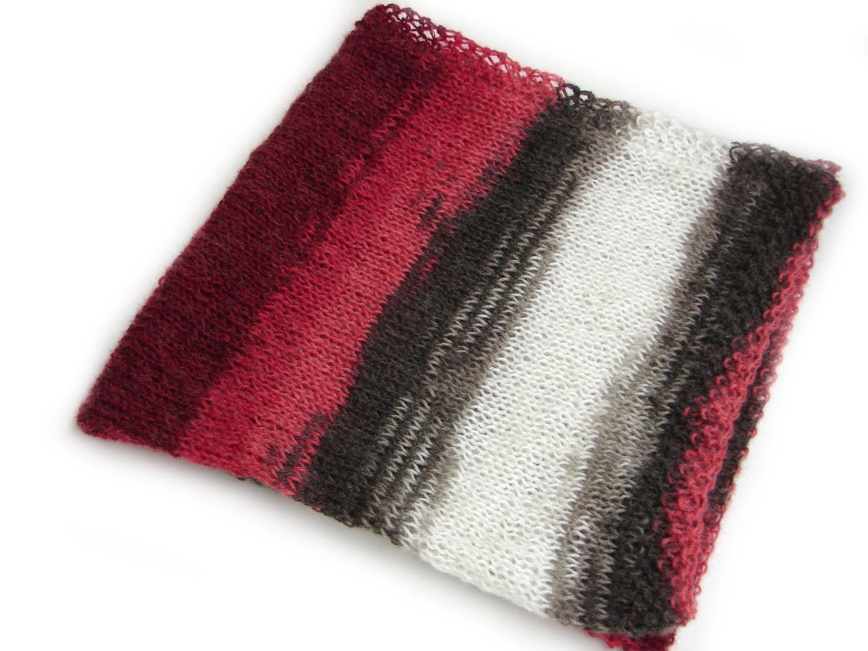 Knitting Pattern For Mohair Blanket : Baby blanket soft mohair knitted blanket in burgundy grey