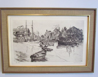 Lionel Barrymore San Pedro Nautical Art Print  Talio Chrome Engraving Drawing