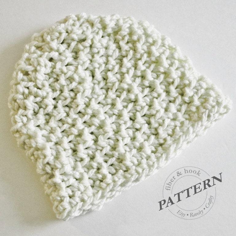 CROCHET PATTERN Chunky Beanie Pattern Crochet Beanie