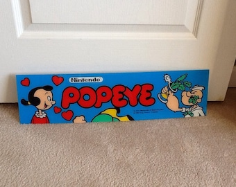 Popeye Nintendo Arcade Game Panel