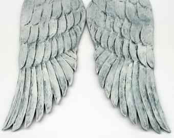 """Angel Wings, 24"""",  Carved Wood Angel Wings, Handmade"""