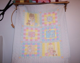 Precious Moments baby quilt.