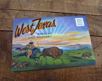 Vintage Souvenir Folder from West Texas - America's Last Frontier Souvenir Folder
