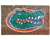 Handmade Florida Gators Logo Wood Sign