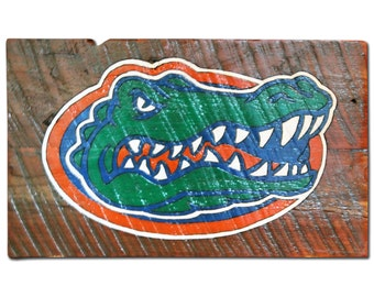 Handmade Florida Gators Logo Wood Sign