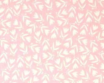 Organic Petit Fleur Tossed Flowers Blush Fabric
