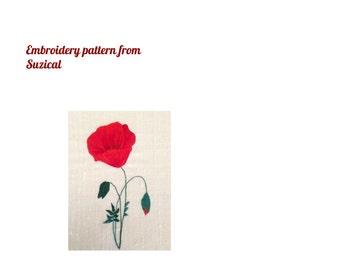DIGITAL DOWNLOAD. Silk shading poppy pattern