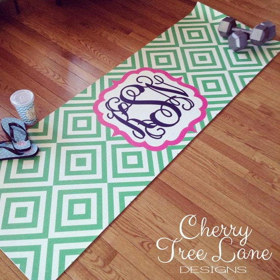 Personalized Yoga Mat Design Your Own By CherryTreeLaneDesign