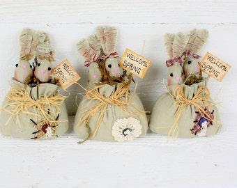 Small Bunny Spring Decor- Set of Three