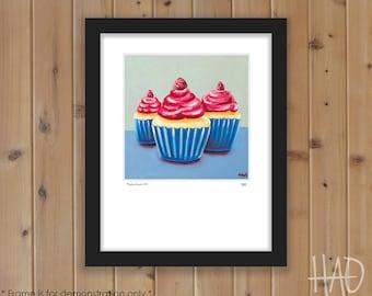 Cupcake Print from Original Oil Painting