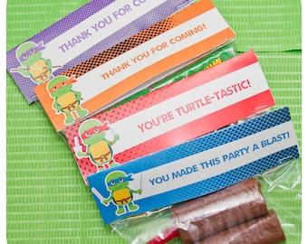 Teenage Mutant Ninja Turtle Party; TMNT Birthday; Teenage Mutant Ninja Turtle Favor Bag Toppers; TMNT Party; Ninja Turtle Birthday Party;