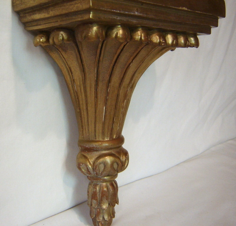 Wall Sconces Shelf : Wall Shelf Sconce Gold Wall Sconce Gold Shelf by BluBerriFinds