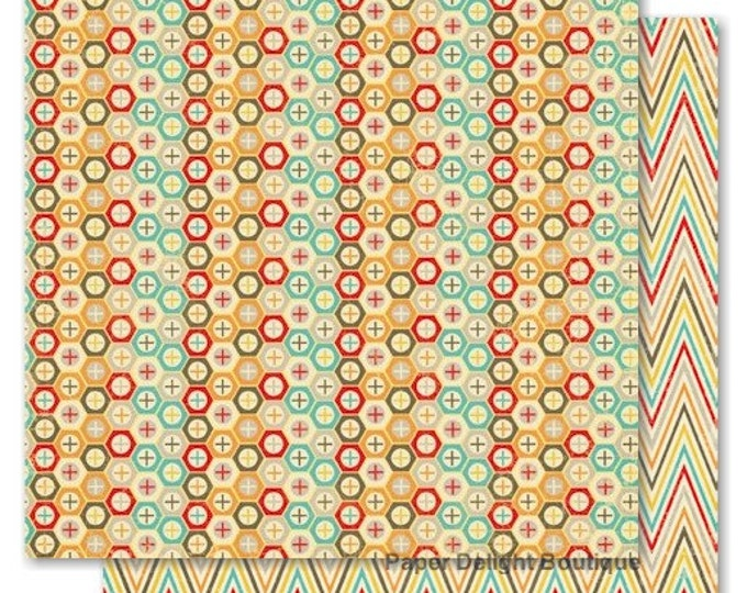 2 Sheets of My Mind's Eye BOY CRAZY 12x12 Scrapbook Paper - Nuts & Bolts