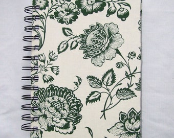 Victorian Floral Fabric Notebook