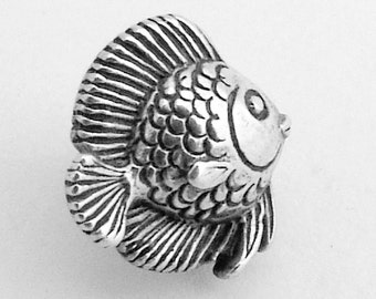 Fish Stud Earrings Sterling Silver