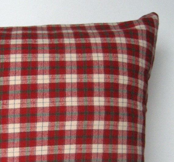 Red Plaid Throw Pillow Cover : Items similar to Plaid Flannel Pillow Cover, Throw Pillow, Check Plaid, Winter, Home Decor ...
