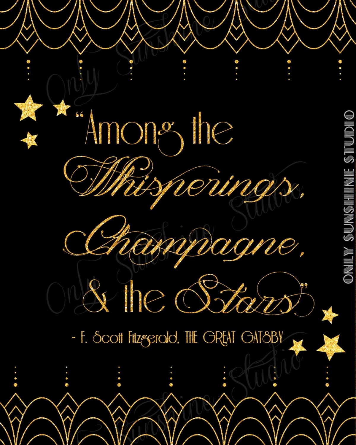 Quote From The Great Gatsby: Gatsby Wedding Instant Download Gatsby Quote By