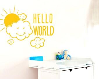 Hello World Wall Sticker
