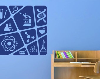Kids Science Collage Wall Sticker