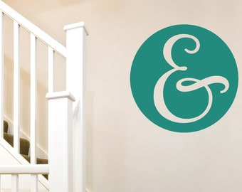 Ampersand In Circle Wall Sticker