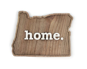 Oregon home. Rough Cut Mill Wood Wall Hanging