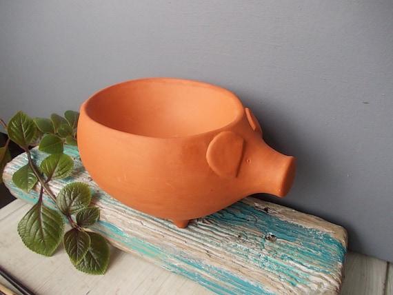 Ceramic Pig Bowl Woodland Funny Dish Made In Sweden
