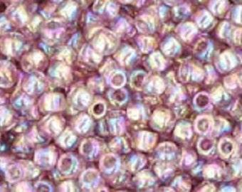 TOHO Seed Beads - Transparent Rainbow Light Amethyst - Size 11/0 - 10 Grams (166)