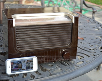 Vintage Bluetooth iPhone Ready RCA Golden Throat 40's AM Tube Radio Stream  Music and Apps / Listen to AM if the internet closes.