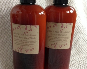Natural Hair Conditioner, 4 oz and 8 oz