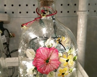 Hand-painted Bottle Lamp