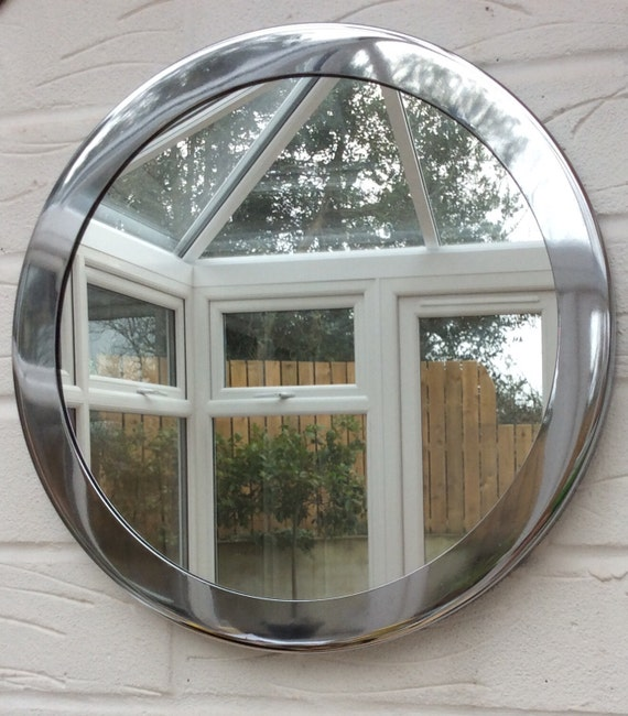 Porthole mirror chrome vintage art deco style bathroom for Porthole style mirror