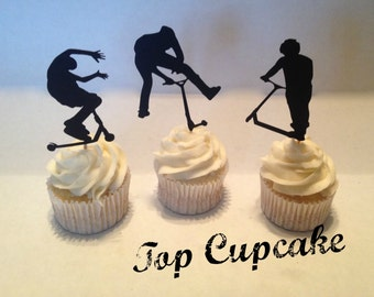 Extreme Scooter Cupcake Toppers - 12