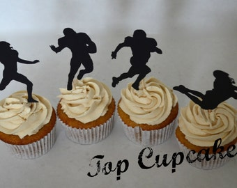 Football Cupcake Toppers -12