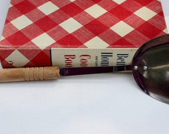 Vintage Stainless Stir-Fry Wok Spatula-Wood Handle-Housewares-Food Prep-Kitchen Utensils-Antique Kitchen Utensils-Wok Cooking-Japan Made