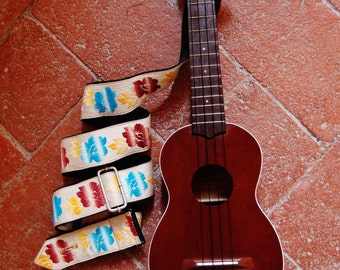 Ukulele Strap - Made in Florence with vintage fabric