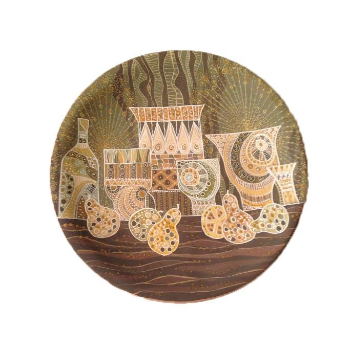 Brown Decorative Plate Ceramic Wall Art Still