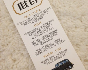 200 Gatsby Menu Cards
