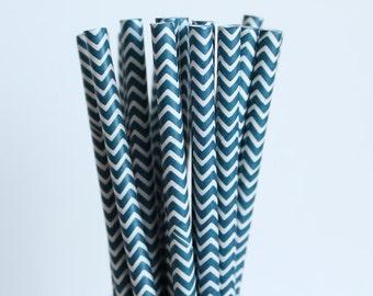 Navy Blue Chevron Paper Straws-Navy Blue Straws-Chevron Straws-Zigzag Straws-Wedding Straws-Party Straws-Mason Jar Straws-Cake Pop Sticks