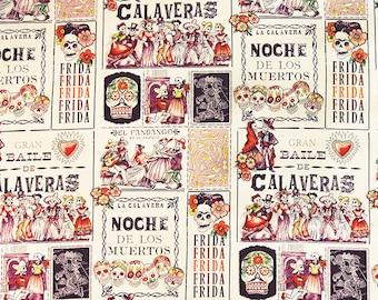 Alexander Henry - Baile de Calaveras - Tea & Eggplant